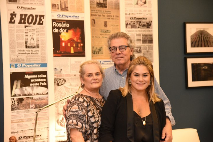 Andreia Rocha Lima com os pais Nando e Regina Rocha Lima