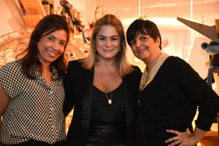Eliane Martins, Andreia Rocha Lima e Maria Celia Siqueira