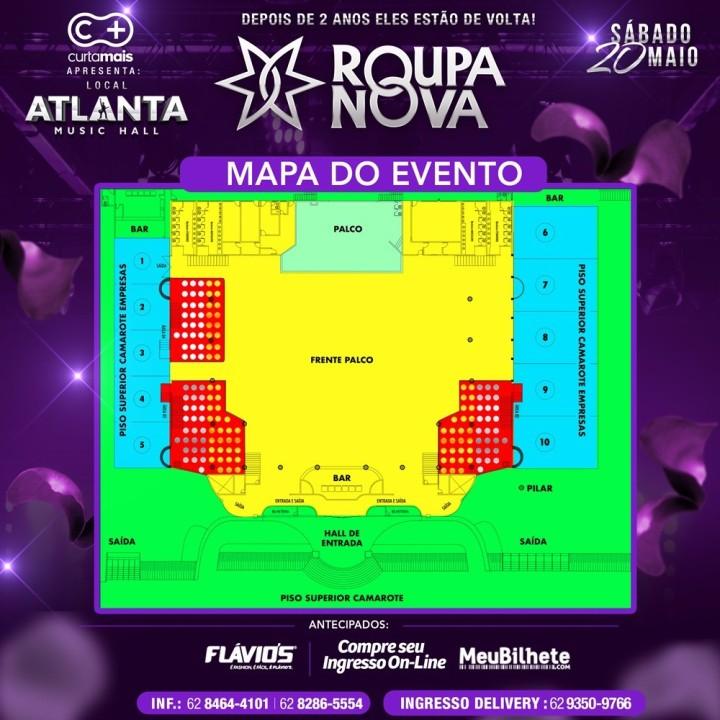 thumbnail_Mapa dos lugares - Show Roupa Nova - Dia 20 de Maio - Atlanta Music Hall