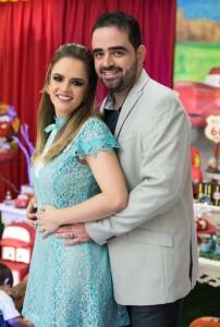 O casal de empresários Fabiana Oliveira e Luiz Carlos Campos
