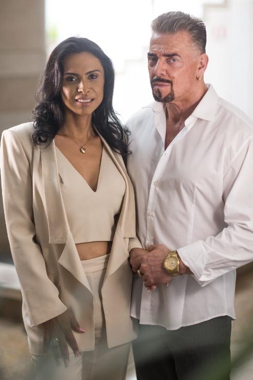 Os empresários Barbara e Martin Reinhard