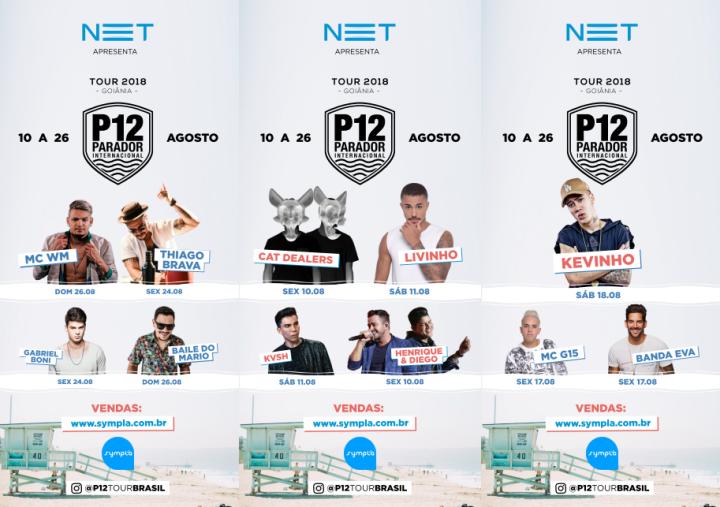thumbnail_Eflyer 14 - Atrações Confirmadas - P12 Tour Brasil - Edição Goiânia de 10 a 26 de Agosto.